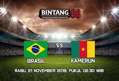 Prediksi Bola Brasil Vs Kamerun 21 November 2018