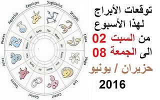 توقعات الأبراج لهذا الأسبوع من السبت 02 الى الجمعة 08 تموز/ يوليو 2016