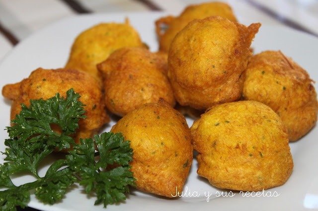 Buñuelos de bacalao. Julia y sus recetas