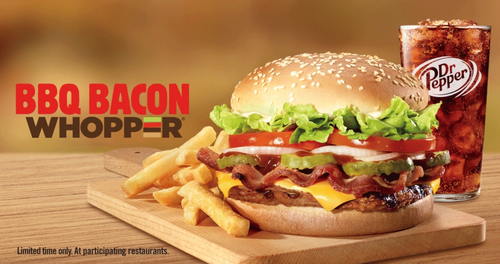 Burger King Leads Into Spring With A New Ish Whopper Variants As Well Another Sauced Version Of Their Chicken Strips In The BBQ Bacon And