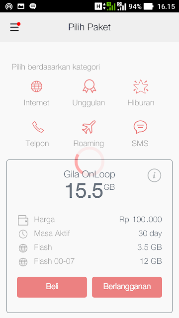 Internet Murah Telkomsel Gila OnLoop