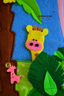 Развивающие книжки из фетра, Книжка развивайка, книжка для развития из фетра, развивающие книжки для детей, купить развивающую книжку из фетра, мягкая развивающая книжка, детские развивающие книжки из фетра, развивающая книжка для детей из ткани, купить книжку развивашку для детей, книжка из фетра, мягкие книжки для детей, книжка из фетра африка, игрушки из фетра, животные африка из фетра