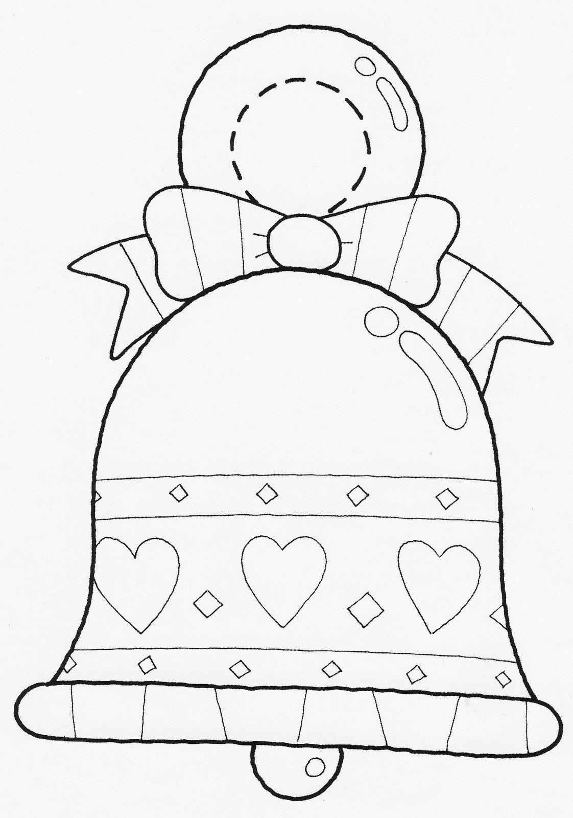 Como Decorar Un Dibujo De Una Campana De Navidad