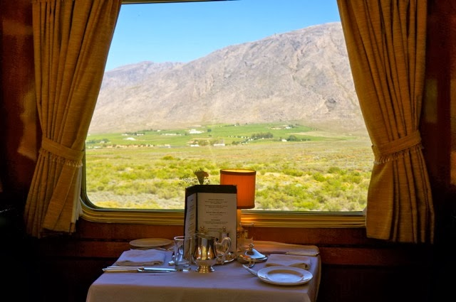 Dinner onboard the Blue Train