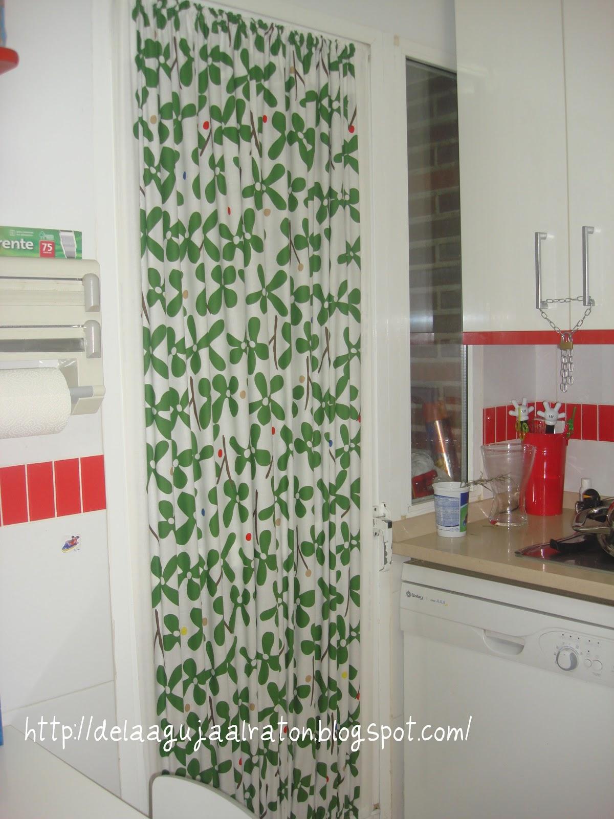 De la aguja al rat n cortina cocina for Cortinas de cocina hechas