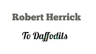 "Discuss the poetic style of Robert Herrick with especial reference to To Daffodils.                                    Robert Herrick was a consummate artist, and he is regarded as one of the greatest of 17th century lyricists. The remark made by E. Legouis about Herrick's poetic art is indeed worth considering.             In discussing the style of a particular work of art we have to consider how his sentences, phrases, diction, sound, and rhythm contribute towards producing the effects desired by the writer.         In To Daffodils the poet desires to convey the idea of the transitoriness of things and beings of this world, and perhaps the fact that the more beautiful and delicate a thing is, the more transitory it is. The poem consists of two stanzas of equal length. The sentences, words, and phrases are built in such a way that the two stanzas become exactly similar in length, lines, meter and even syllables. For example, the first sentence of the first paragraph is:                  Fair daffodils, we weep to see                  You haste away so soon.         The first sentence of the second stanza contains  exactly the same number of lines and syllables.         The words though simple and ordinarily used in everyday life of a speaker of English, are very strong and rich in connotation. Words and phrases like  ""weep"",  ""haste away""  ""summer's rain"" are very suggestive of the meanings they are used to convey.          The rhetorical figures are pathetic fallacy, epistrophe, metaphor and simile. The first sentence is an epistrophe,  ""Until the hasting day/Has run/But to the even-song"", is a metaphor, and the whole of the second stanza is a simile. The figures of speech intensify the effects desired by the daffodils and human beings are similar in their short existence in this world.  The rhythm produced by the iambic metre of different number of foot in different lines is suitable for the music required for the theme of the poem.  The first lines of first and second stanzas are iambic teteameter with a variation, and the second lines are iambic trimeter. So are the lines 3,4,9,10,  iambic tetrameter and trimeter. The undulations in rhythm are produced by the different number of foot for different lines.            Sound devices help the music.  Alliteration is used heavily.  ""As yet the early rising sun/Has not attained his noon""_  here the alliteration produced by the repetition of  ""s"" and ""n"" sounds is noticeable.  Again, in the sentence,  ""We have short time to stay, as you""  the repetition of  ""t"" produces the desired effect.          The whole poem is conceived in symbolism. Daffodils stands for all beautiful things in the world, and human beings for all creatures.          Through these symbols the poem becomes a cosmic symbol of the transience of the whole of God's creation.           The stylistic devices adopted for the poem are deftly used, and make the poem a successful one."