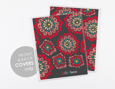 Erin Condren Life Planner Covers 2-for-1 sale! Custom colorway Poppy design!