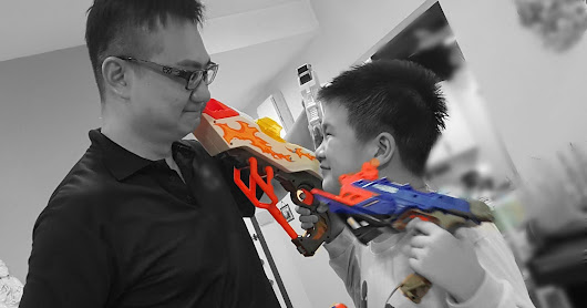 Create a family bonding games moment and be creative with Nerf Nitro.