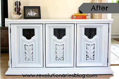 Gray Buffet Makeover