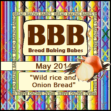 Bread Baking Babes May 2014 - Wild Rice and Onion Bread