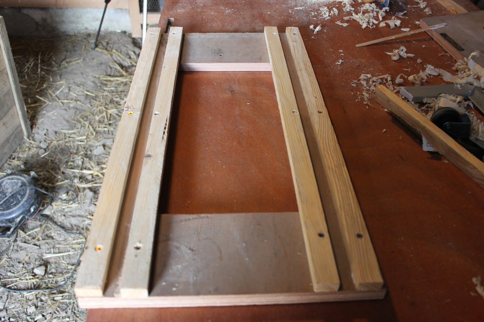 Completed section of crosscut saw table