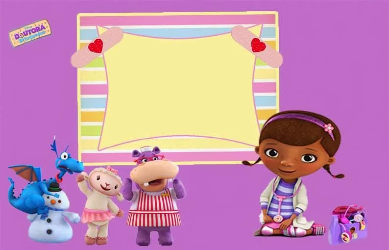 Doc McStuffins Free Printable Invitations Cards Or Photo Frames