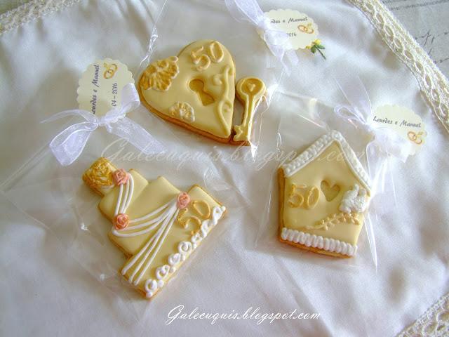 Galletas para bodas de oro