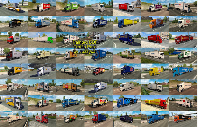 ets 2 painted bdf traffic pack v4.7 screenshots 3