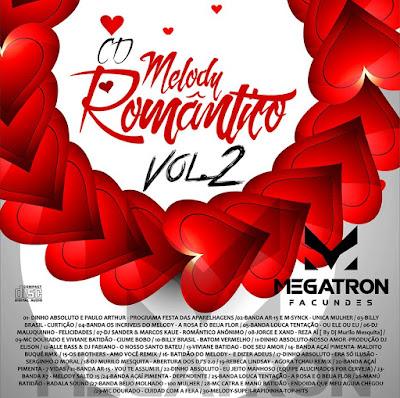 CD MELODY ROMÂNTICO VOL. 2 - DJ MEGATRON FACUNDES - 2016