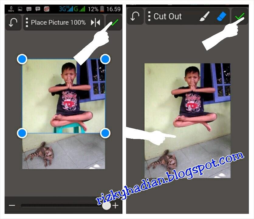 Tutorial Edit Foto Levitasi/Melayang Menggunakan HP Android - 4