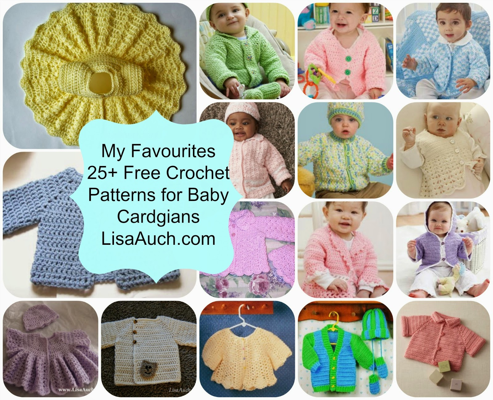 Free crochet patterns and designs by lisaauch free crochet so i have collected all the best baby cardigan patterns here on this page either i have made these or have seen them made so i know they work out bankloansurffo Choice Image