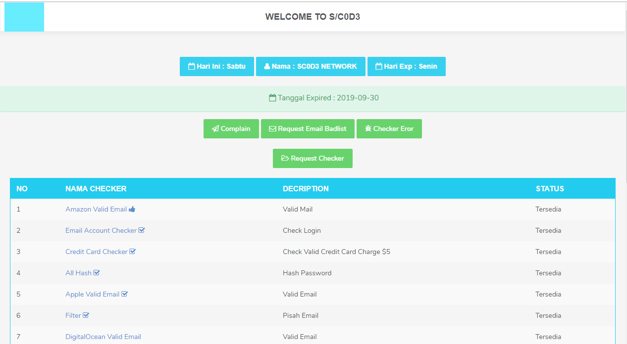 Panel S/C0D3 Versi Token No Fiture - IdSecurity - Nulled Script