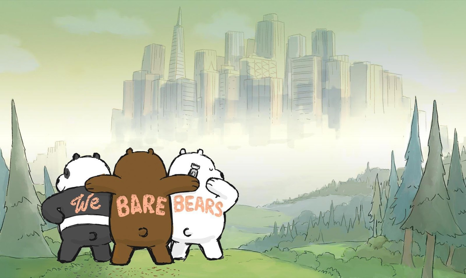 Littlebug 365: หมีสามตัว WE Bare Bears วอลเปเปอร์