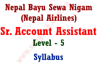 Nepal BayuSewa Nigam Sr. Account Assistant Syllabus Nepal Airlines