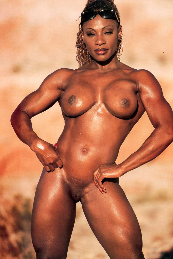 Black nude body builder 10