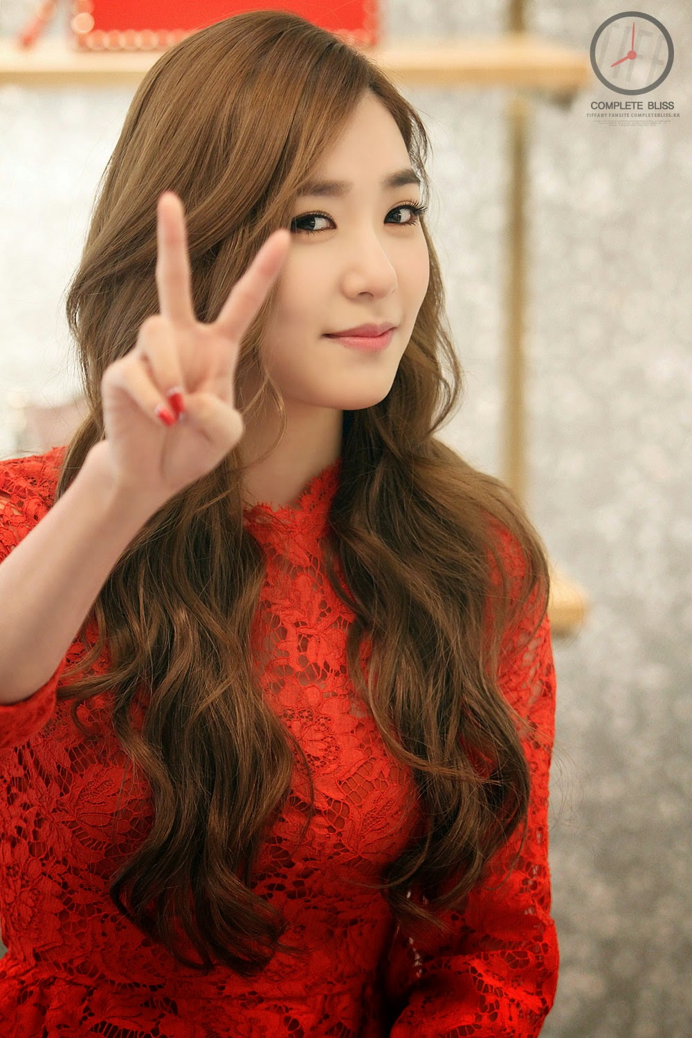 Tiffany Hwang Cute with Red Dress | Korean HD Girls