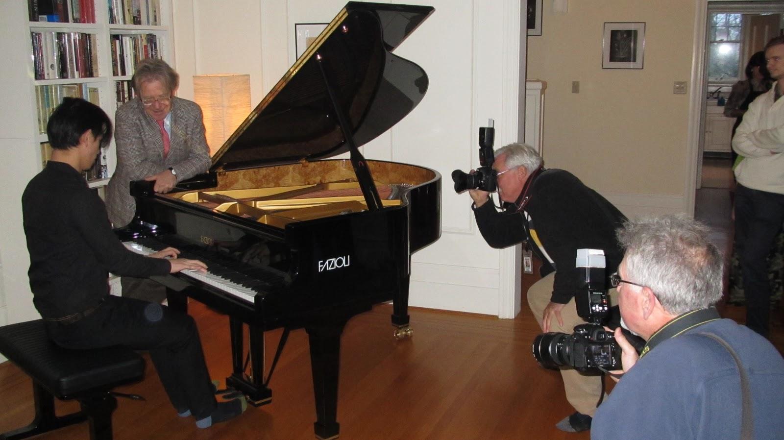 european pianos in vancouver: Paolo Fazioli Visits First Fazioli Piano to Arrive in Victoria