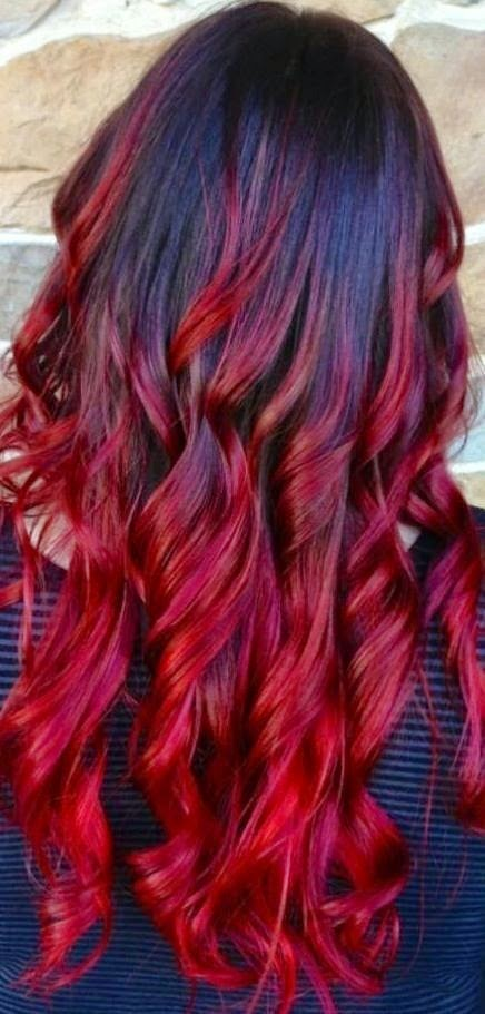 Red Ombre Hair Style