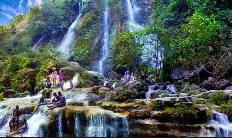 Tempat wisata alam air terjun sri gethuk jogja