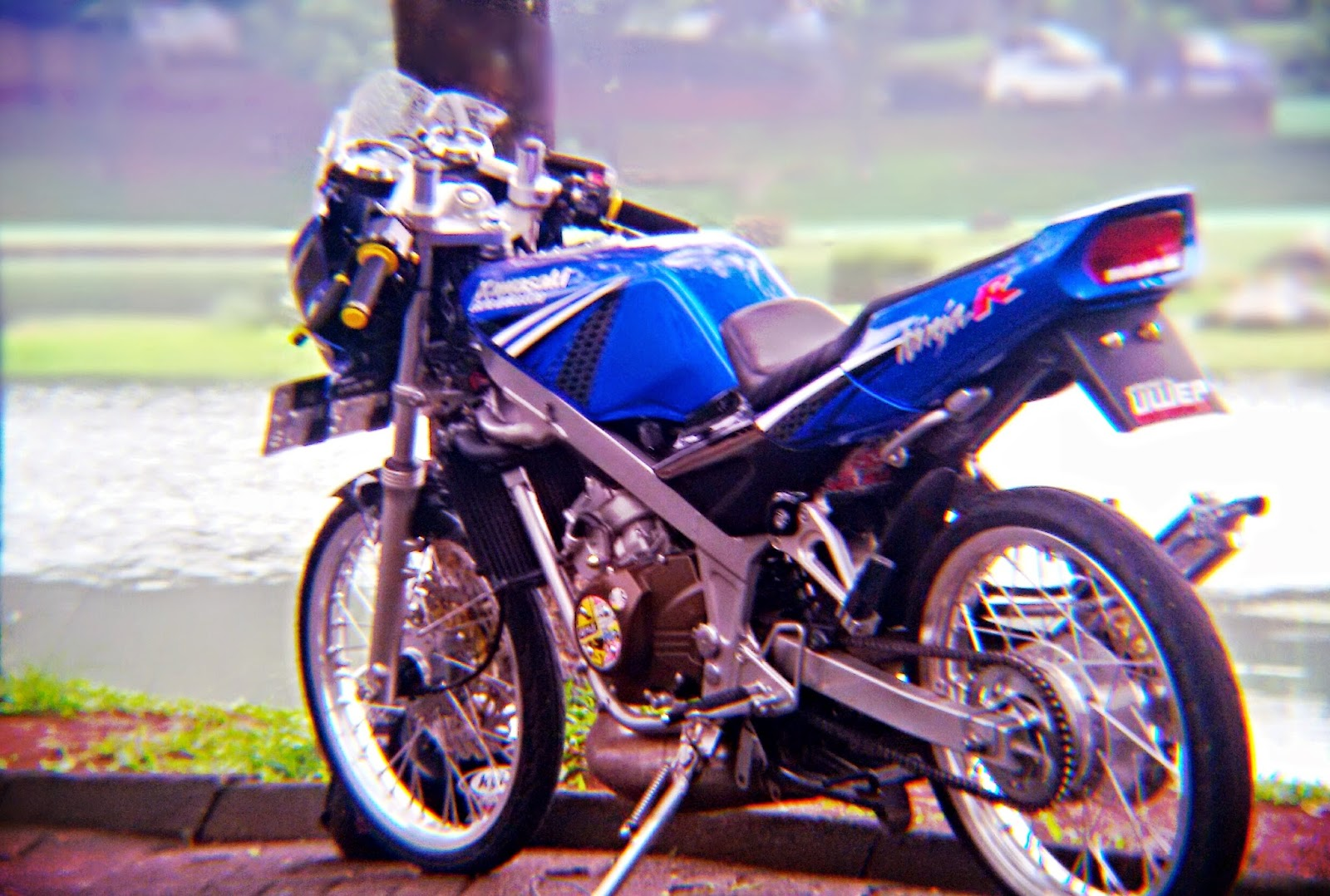 96 Modifikasi Motor Ninja R Jari Jari Warna Biru Sobat Modifikasi