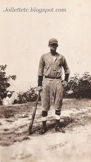 Unknown African-American baseball player about 1918-1921 Portsmouth, Virginia