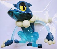 Frogadier figure clear version Takara Tomy Monster Collection MONCOLLE Pokemon Fan Vol 45 Attachment