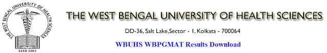 WBUHS WBPGMAT Results 2017 Download