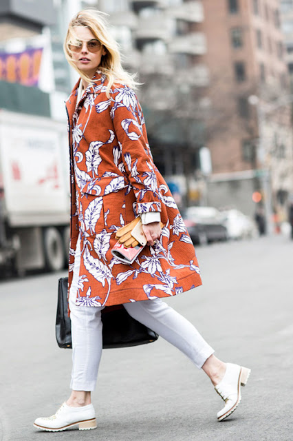 floral print jacket street style