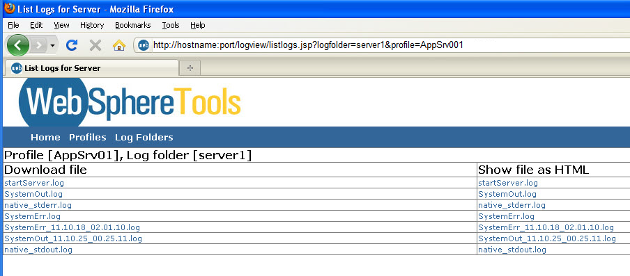 Technical Guide: Log Viewer for WAS 6 1