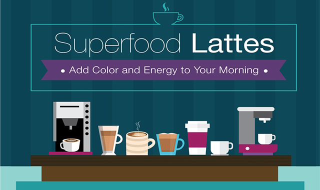 Superfood lattes to add color and energy to your morning