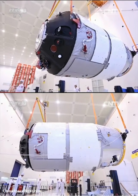 Images of the Tiangong-2 space laboratory. Photo Credit: CCTV