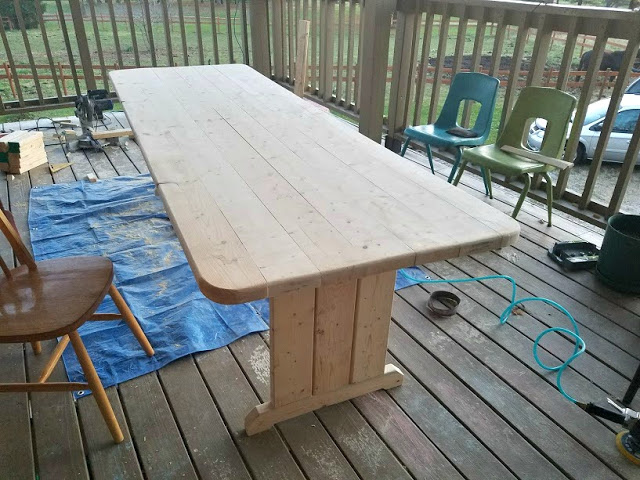 The rehomesteaders a kitchen table for 12 joy terrace malden ma