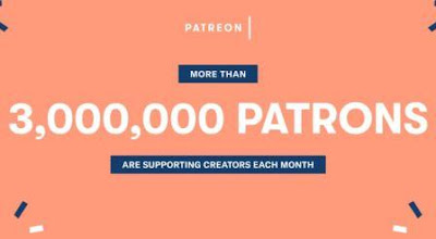 Patreon surpasses 3 million users