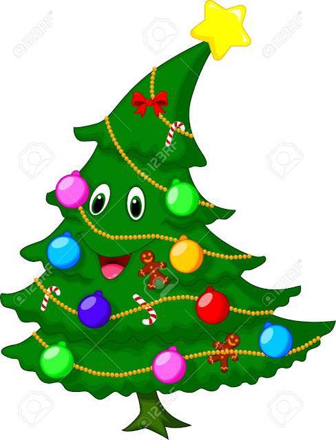 Christmas Tree Images Cartoon