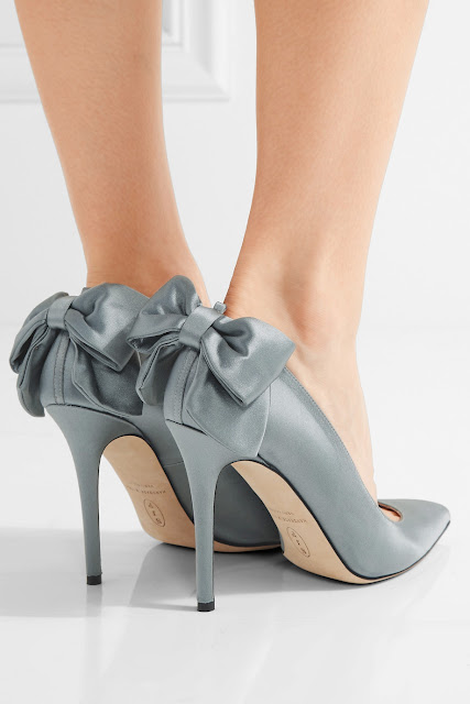 SJP By sarah jessica parker lucille bow embellished satin pumps