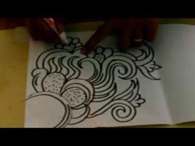 Gambar Batik Yang Mudah Digambar Di Buku Gambar Gudangnya