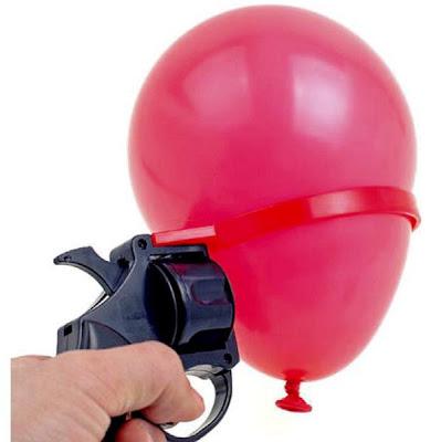Pistola con globo