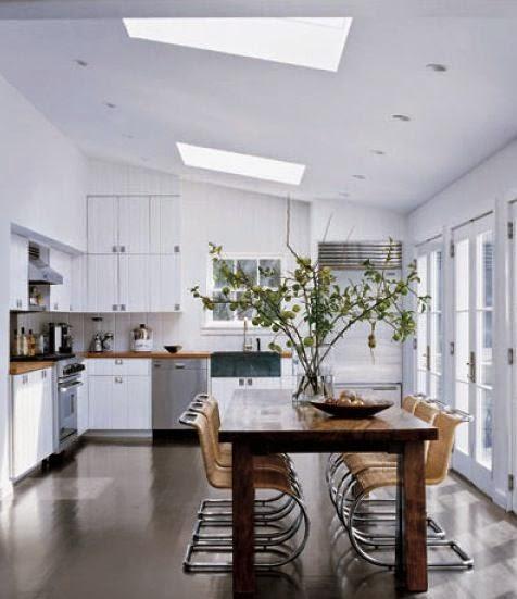 Elle Decor Kitchens: Green & Plenty: Oversized Summer Branch Arrangements