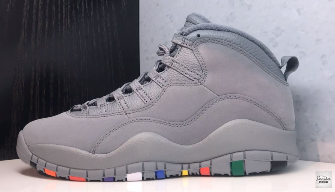 a5c82297591 2018 Air Jordan 10 Cool Grey Rainbow Retro Sneaker (Detailed Look + Release  Date Info)