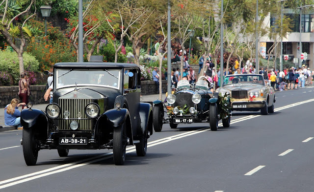 fantastic old cars in Funchal