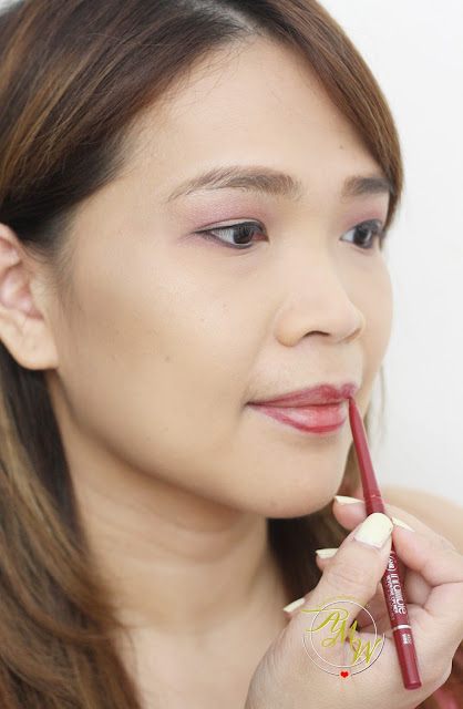 a photo of L'Oreal Infallible Never Fail Lipliner in Red/Wine Review