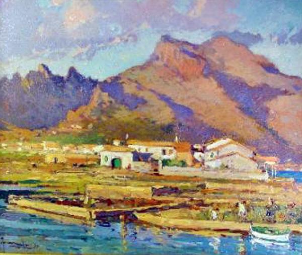 Joaquín Terruella Matilla, Vista de Mallorca, Paisajes de Mallorca, Mallorca en Pintura, Mallorca Pintada, Montañas de Mallorca