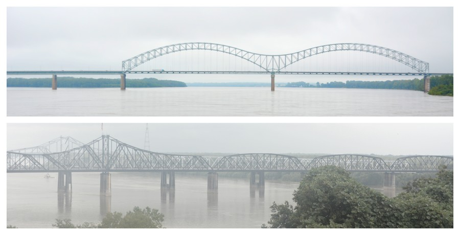 Panoramas sur le le fleuve Mississippi