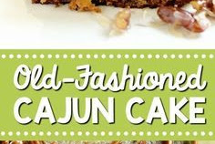 Old-Fashioned Cajun Cake – An EASY cake recipe filled with crushed pineapple and topped with a warm coconut pecan glaze.